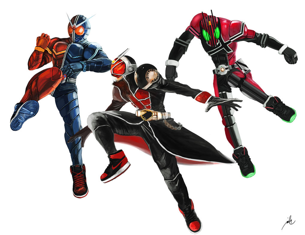 Kamen Rider Sneaker Heads by bustercloud