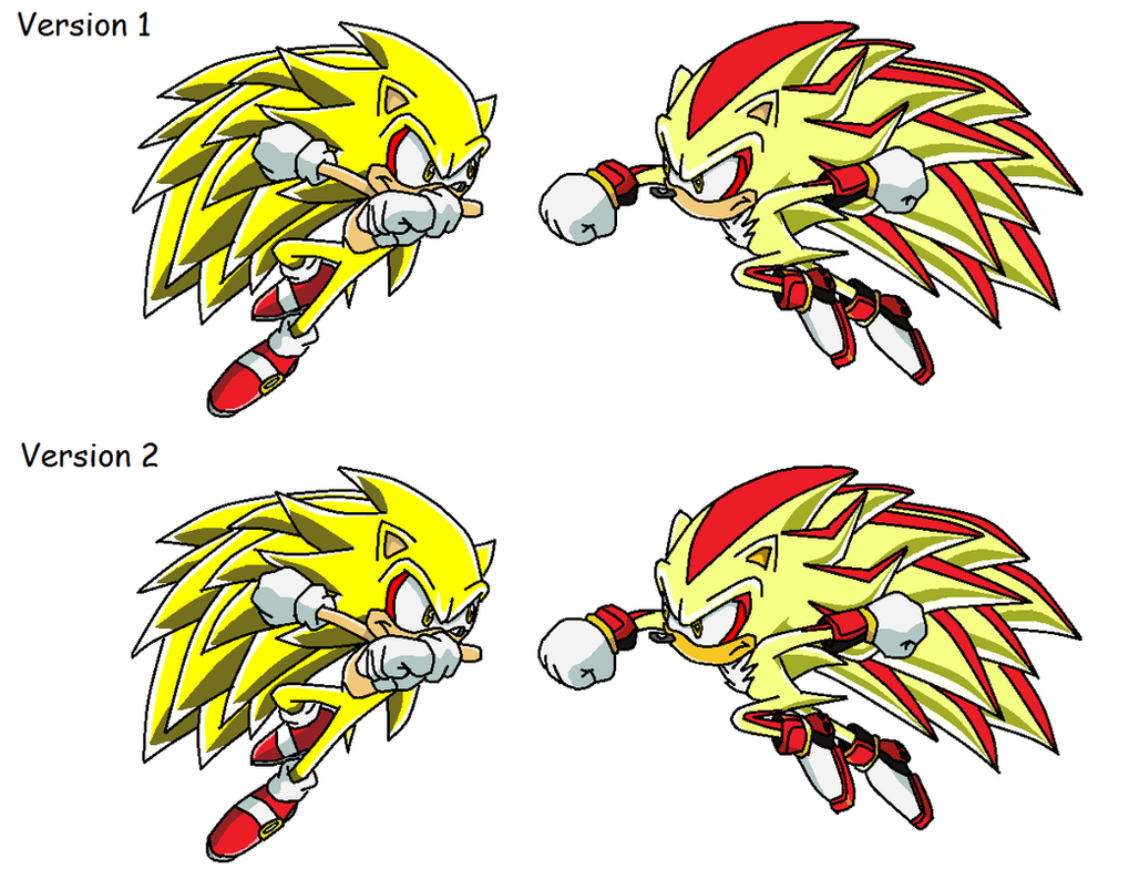 Ultimate super sonic and shadow versions by mypicts on - Super sonic 6 ...