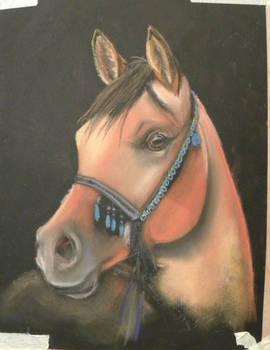 2012-10-01 WIP Arabian in pastel