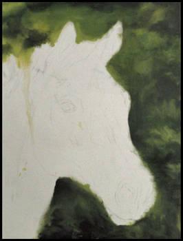 2012-10-10 wip horse portrait oil