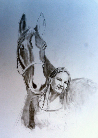 2012-10-10 wip horse and girl