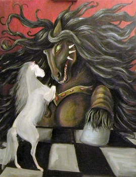 2012-10-16 wip ancient painting horsemonster