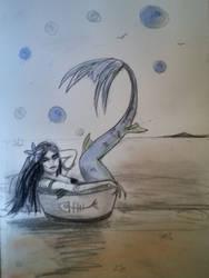 Pinup mermaid