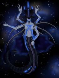 Space Mermaids: Blue Beauty by XenoQueenArt