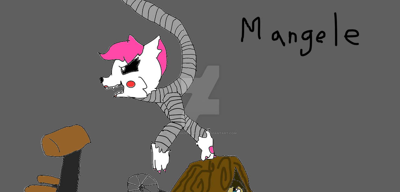 Mangle's hunting the night guard! by Blue-Shadow-Moon92 on