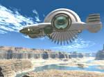 Desert Airship by silversword9