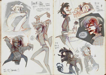 character studies again and again AND AGAIN by LONelloid