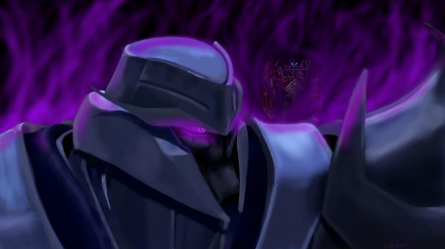 Optimus Prime vs. Megatron by Xx-Antares-xX
