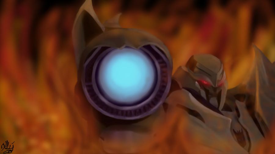 TFP: Megatron under fire by Xx-Antares-xX