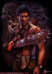 Christopher Lovell Art Ash Evil Dead Detail