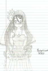 Tsubaki's Wedding Dress by Burgerlicious
