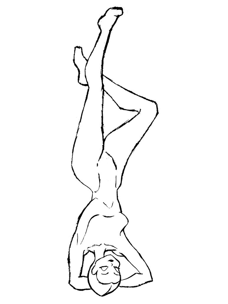 Winx hanging man line art by Kitsune-Xin