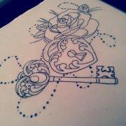 heart locket  key old school by heartsandanchors