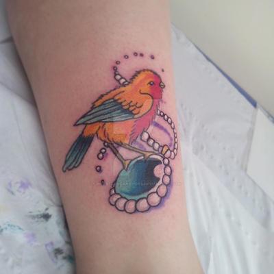 Birdy tattoo by heartsandanchors