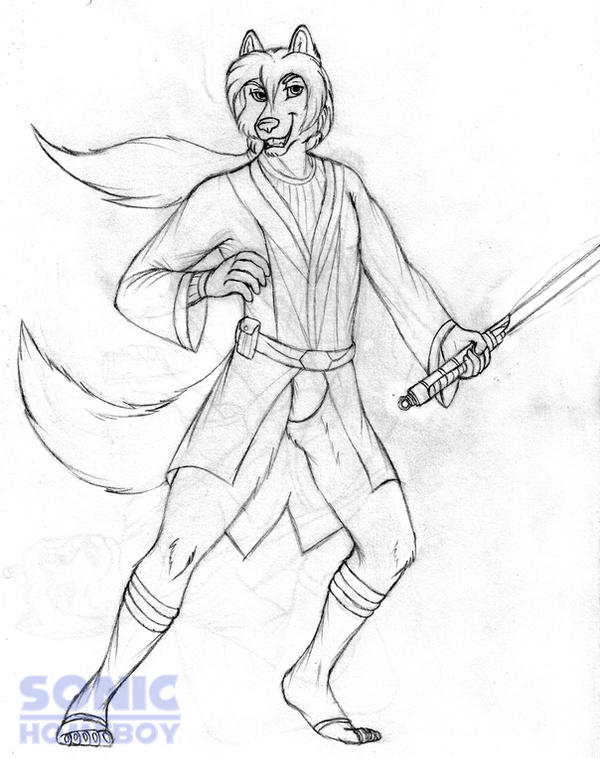Jedi Knight Raul Xi (sketch) by SonicHomeboy