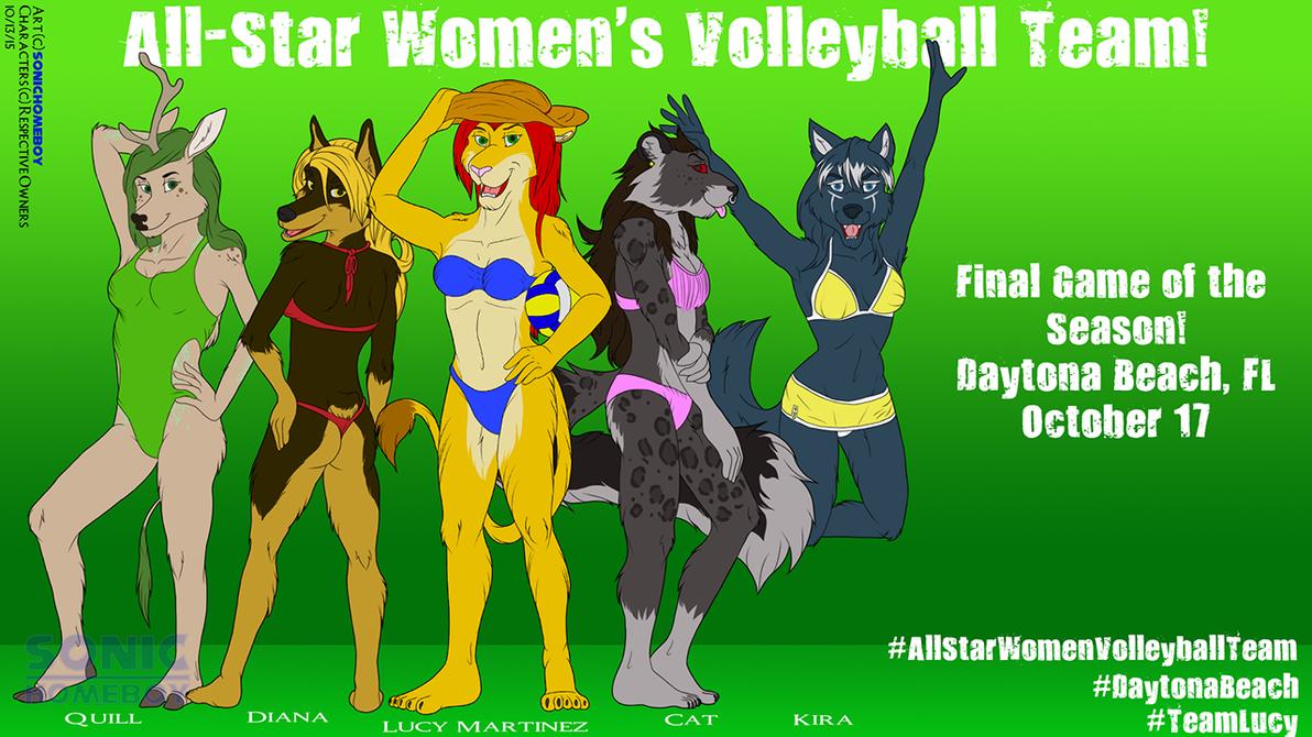 [YCH] Female Volleyball Team by SonicHomeboy