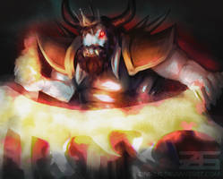 Underfell - King Asgore by Zinrius