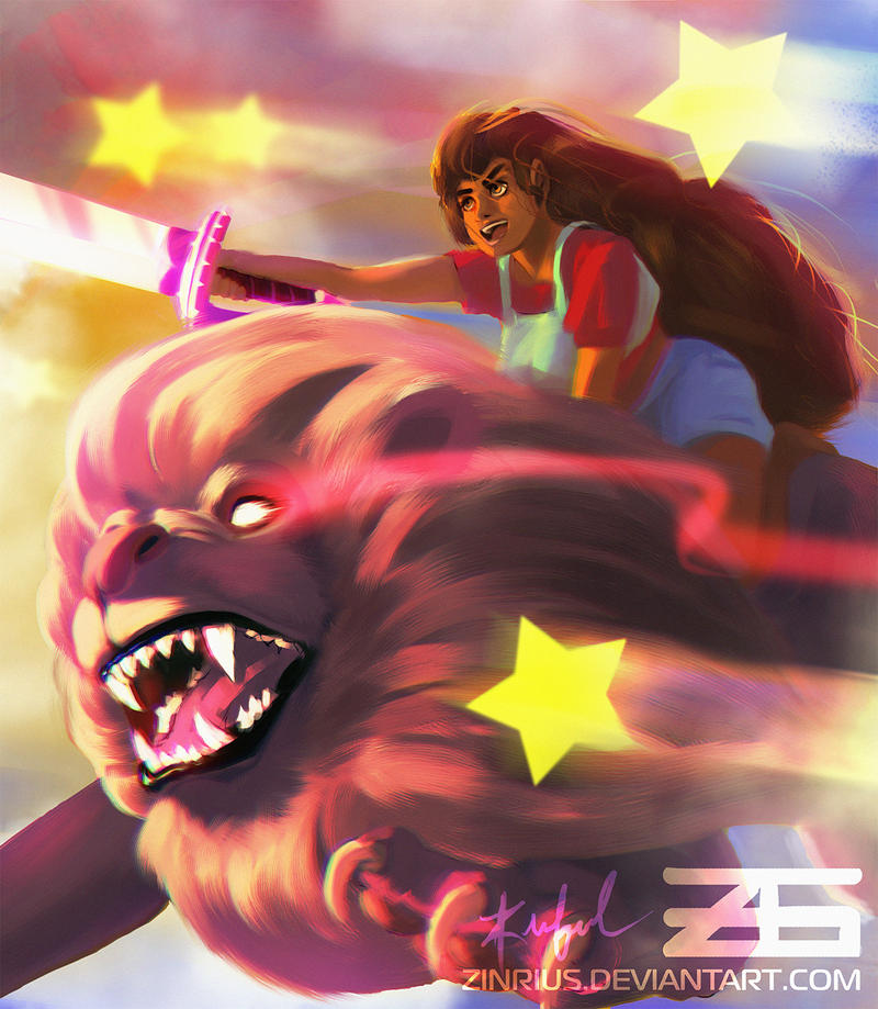 Stevonnie and Lion of Cartoon Network's Steven Universe! ~ God I love this show. Steven and Connie fusing was extremely unexpected! and Garnets reaction was hilarious!...