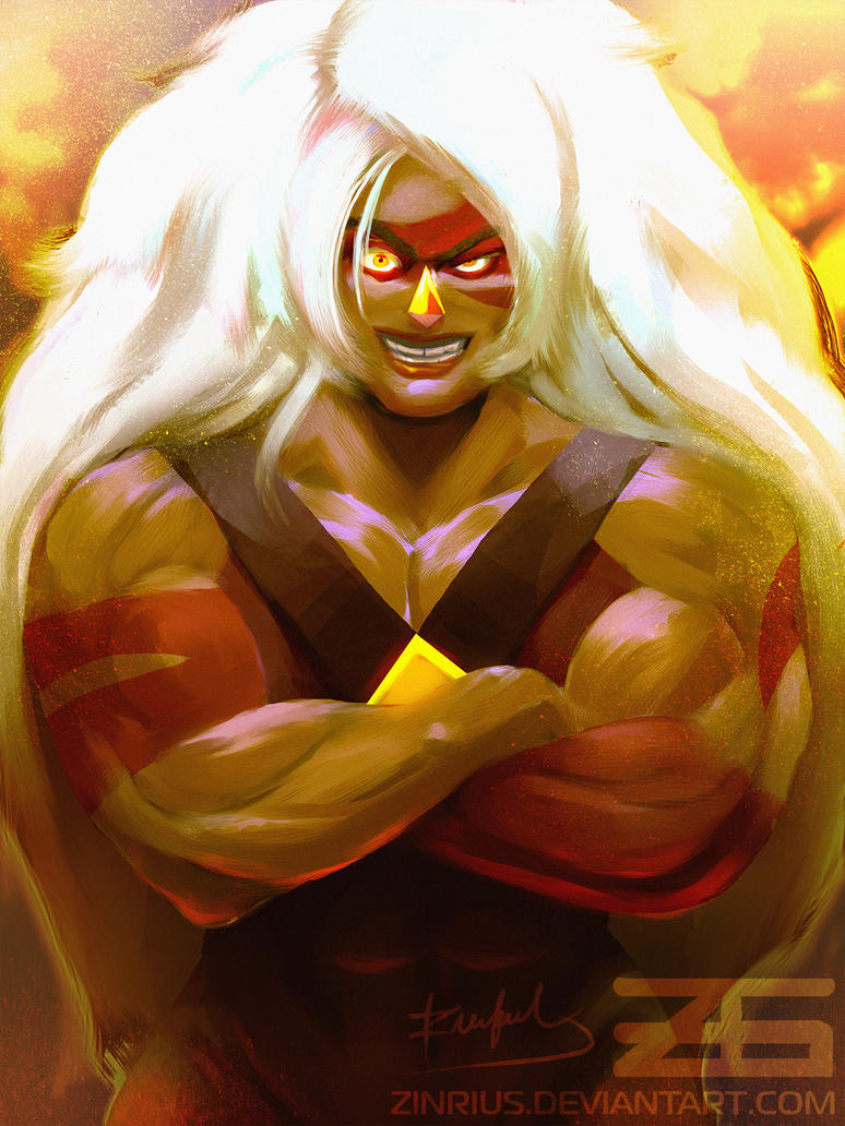 Jasper from Cartoon Network's Steven Universe!  ~ Oh boy OH boy OH BOY! I loved working on this!  Jasper is such a strong and fiery vibrant character, I've been dying to draw her, ...