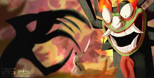 Samurai Jack - Jack vs Aku