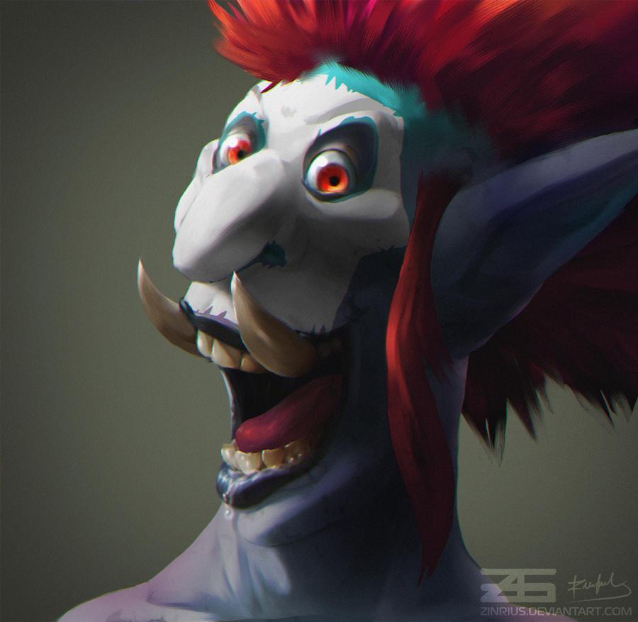 Warcraft Troll Portrait