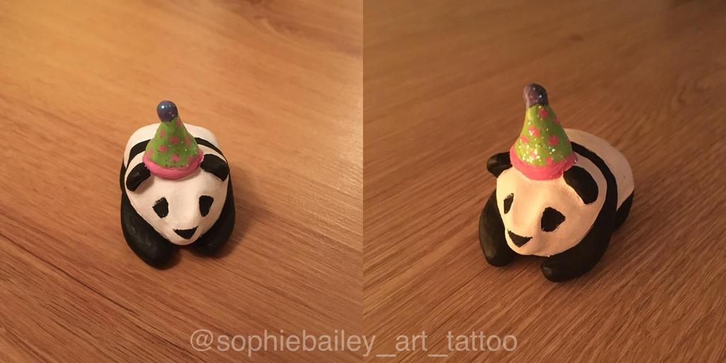 Party panda  by sophieBaileyart
