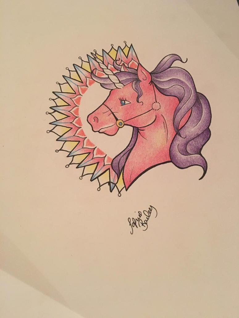 Unicorn mandala  by sophieBaileyart