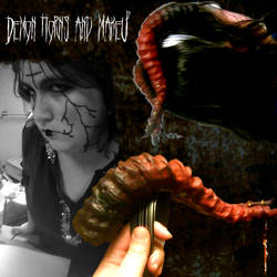 Demon horns and makeup