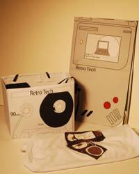 Retro Tech Festival Brochure and Colateral by Em-E-chan