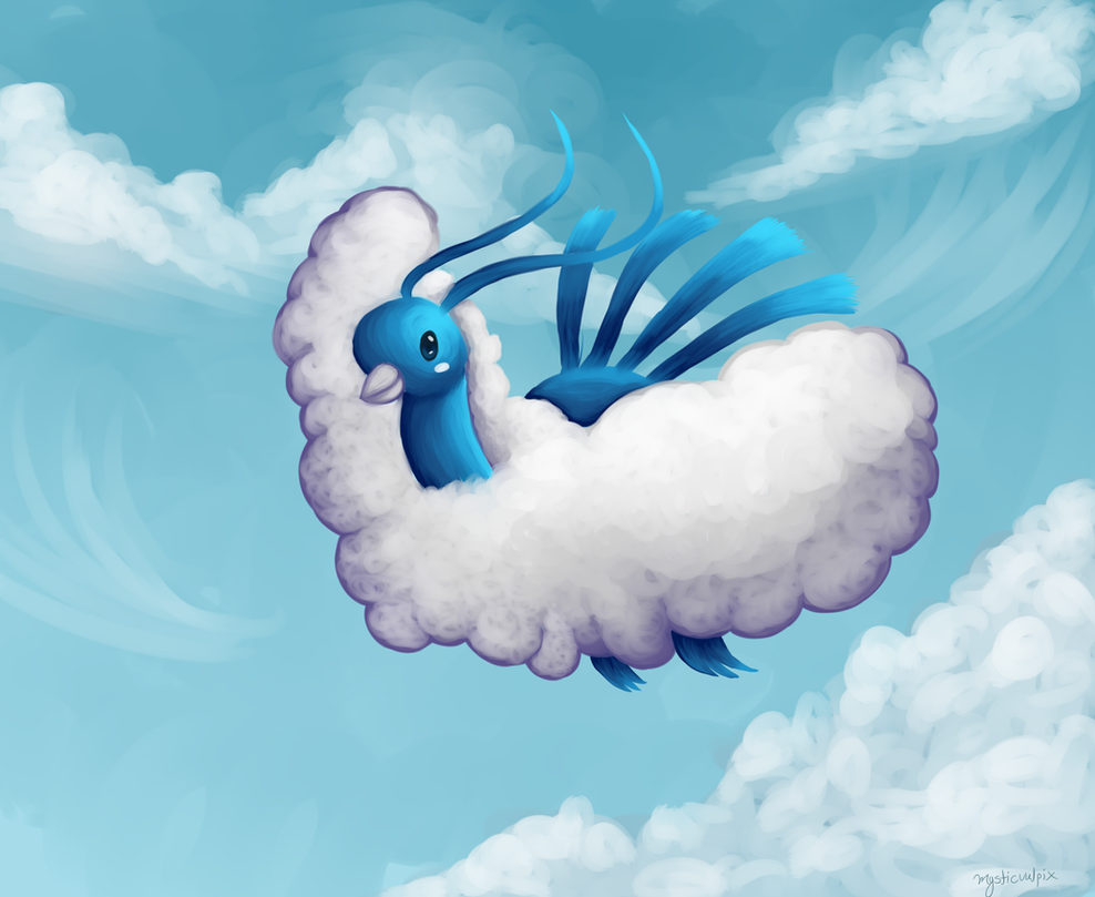 Soaring with the Clouds by Mysticvulpix