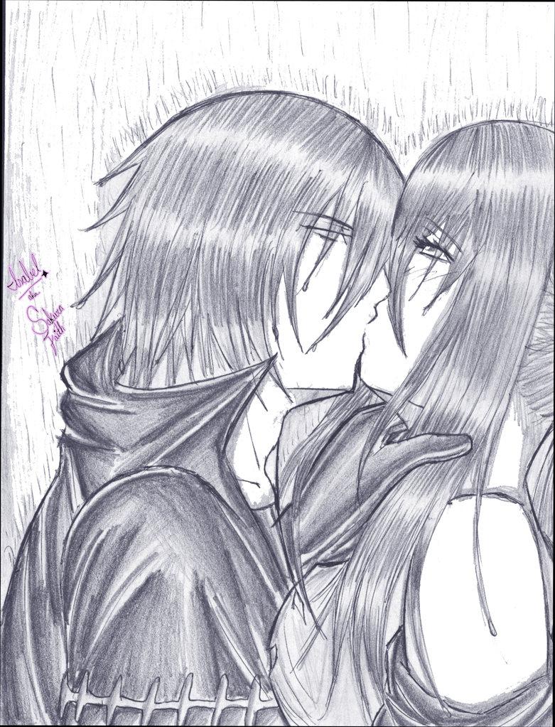 Haruka and Shiki Kissing by mariko85