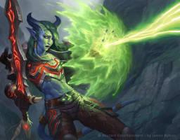 WoW TCG Draenei Warrior by JamesRyman