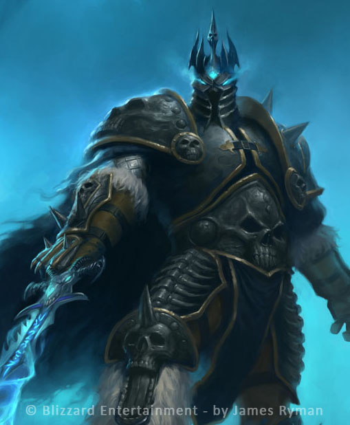 WoW TCG Lich King detail by namesjames
