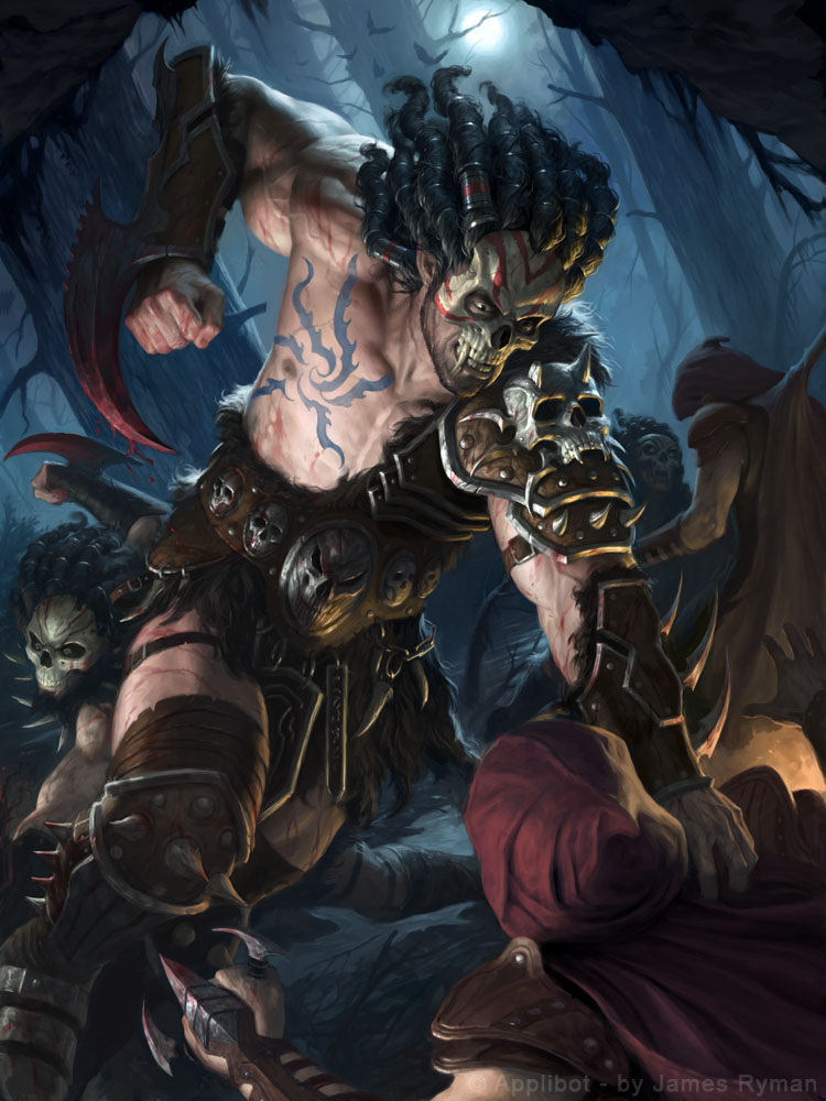 Ghoulish Barbarian By Namesjames On Deviantart
