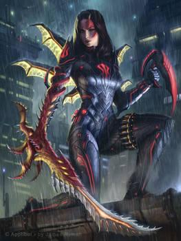 Living Great-sword Wielder Dragon Knight  Advanced
