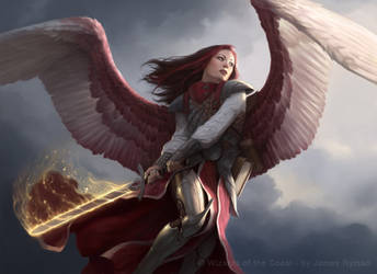 Angel of Thune for MtG by JamesRyman