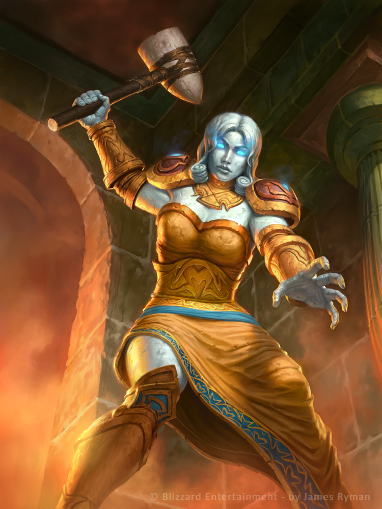 Hearthstone- Ironaya-Keeper of Uldaman by namesjames