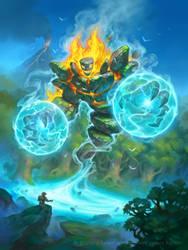 Hearthstone - Animus Storm Elemental by JamesRyman