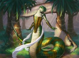 Naga Vitalist - MtG Amonkhet by JamesRyman