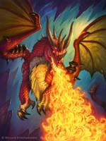 Hearthstone - Fire Dragon by JamesRyman