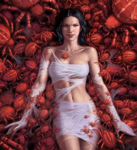 Spider Queen - detail by namesjames