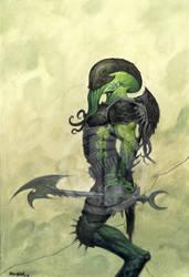 Cthuloid Warrior by JamesRyman