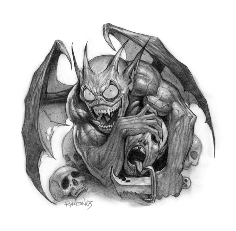 evil goblin demon by namesjames on deviantart