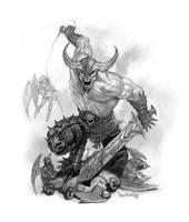 Giant Warrior Demon by JamesRyman