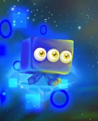 Wisp #2 - Blue Cube