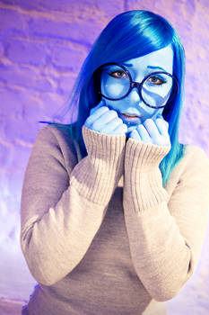 Sadness Cosplay from Inside Out 3