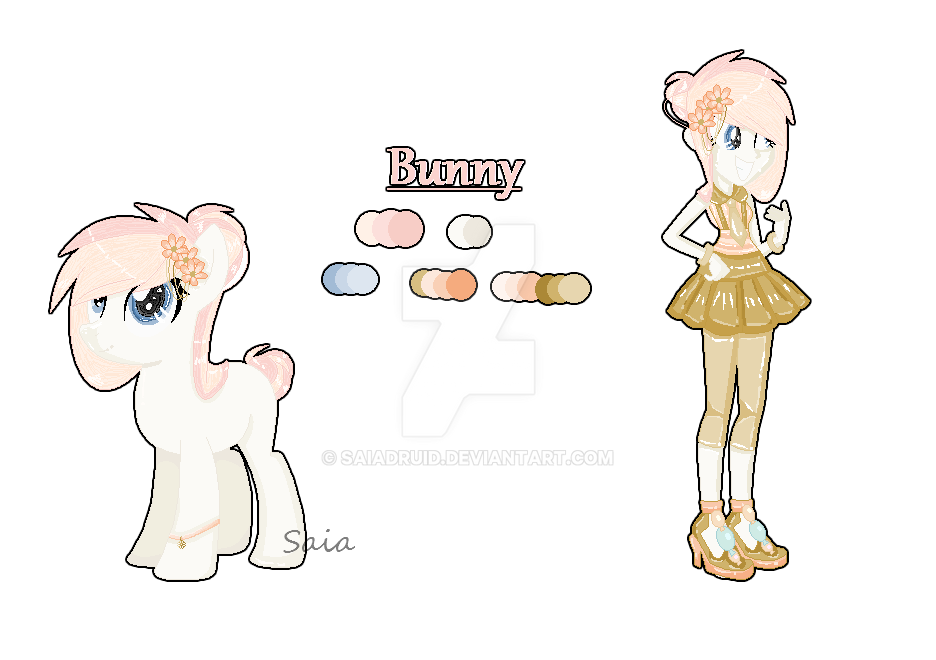 Reference Sheet - Bunny by Saiadruid