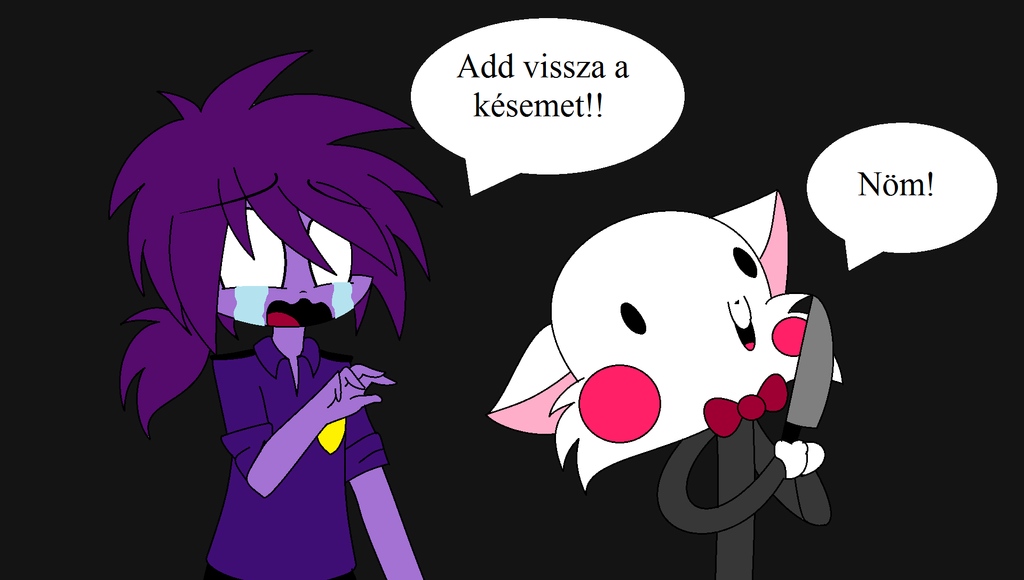 [FNaF] Purple Guy And Mengol(the Stupid White Fox) By