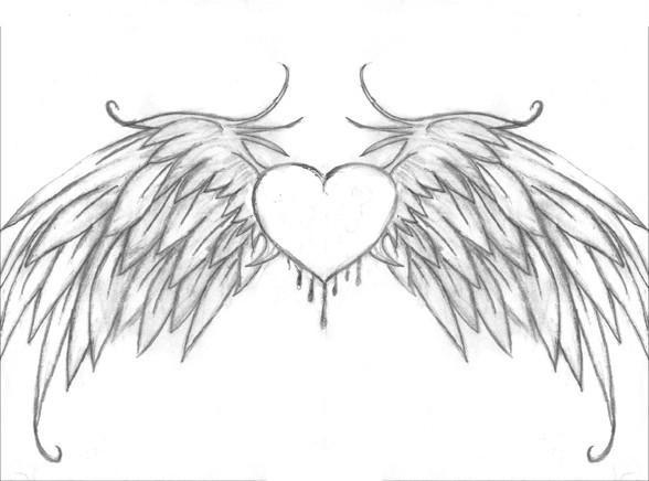 heart with wings by lish990 on deviantart. Black Bedroom Furniture Sets. Home Design Ideas
