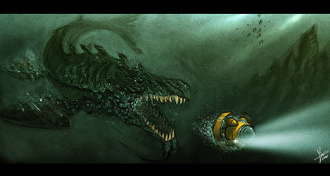 sea monster by blackpoint